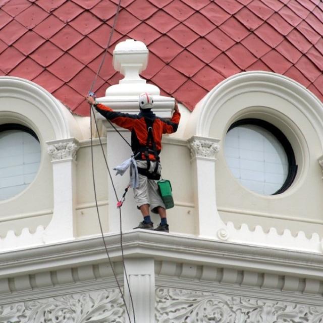 Mytí oken z lana firma - RAPEL.CZ