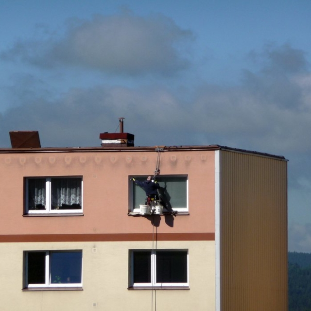 Nátěr fasád panelových domů - RAPEL.CZ